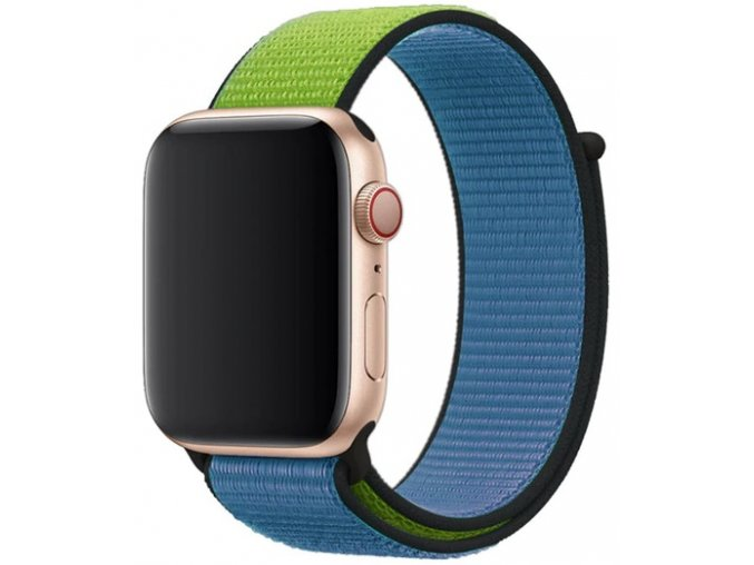 modrozeleny provlekaci reminek na suchy zip pro apple watch