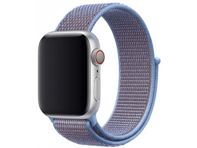 blankytne modry provlekaci reminek na suchy zip pro apple watch