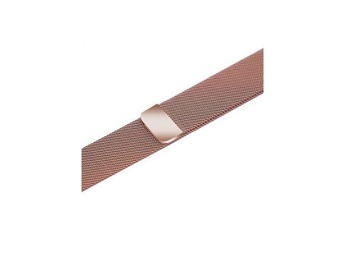milansky tah s magnetickym zapinanim pro apple watch ruzove zlaty typ2