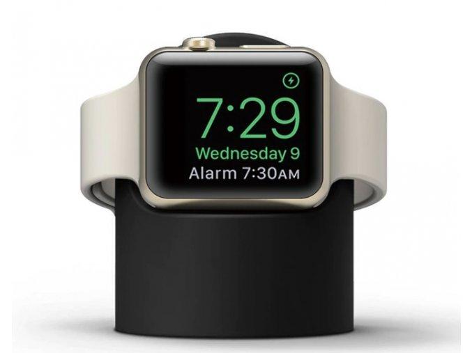 stojan pro apple watch silikonovy cerny 1