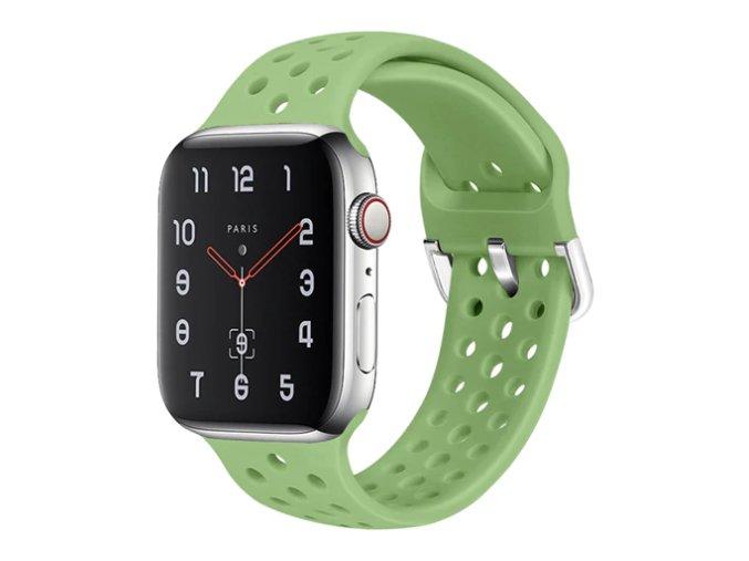 silikonovy reminek s odvetravacimi otvory a prezkou pro apple watch matovy