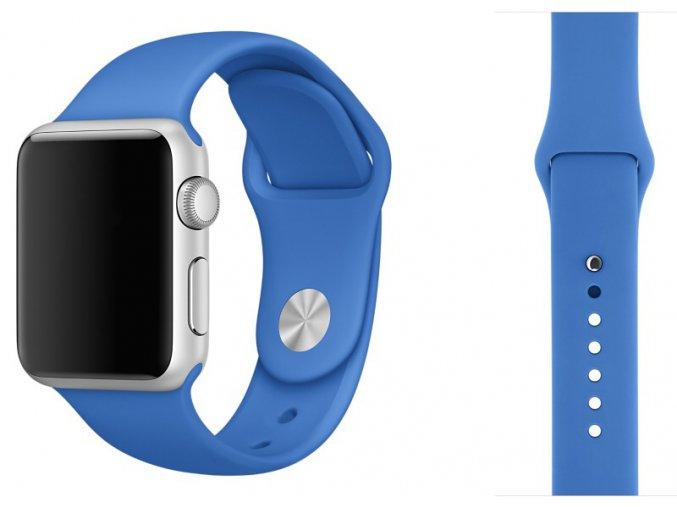 Královsky modrý silikonový řemínek pro Apple Watch 42, 44 a 45 mm