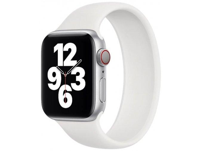 silikonovy reminek pro apple watch navlekaci bily