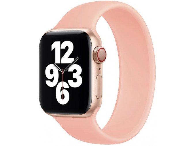 silikonovy reminek pro apple watch navlekaci ruzovy 02