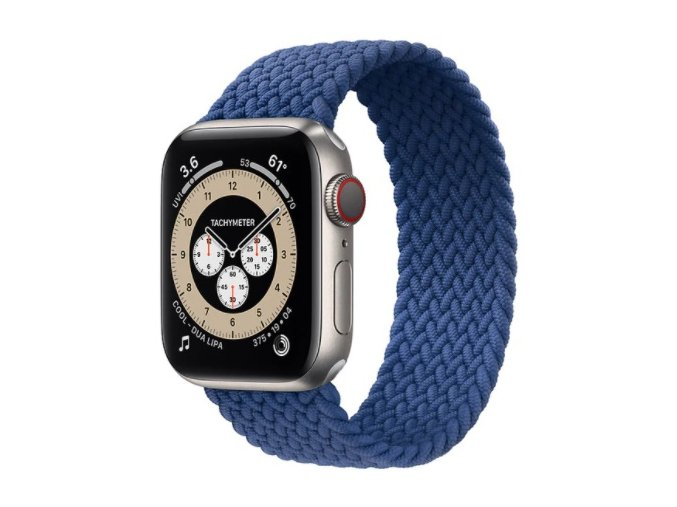 pleteny nylonovy navlekaci reminek pro apple watch modry