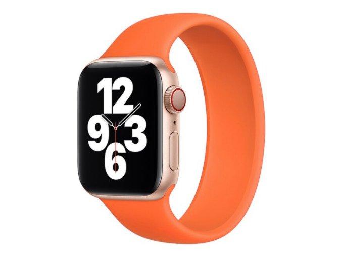 silikonovy reminek pro apple watch navlekaci oranzovy