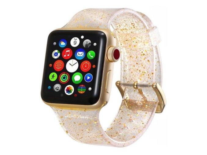 trpitivy silikonovy reminek pro apple watch zlaty