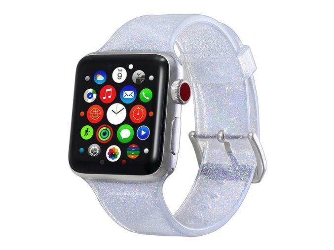 trpitivy silikonovy reminek pro apple watch stribrny