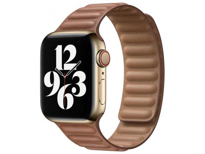 kozeny magneticky reminek pro apple watch 2 generace hnedy