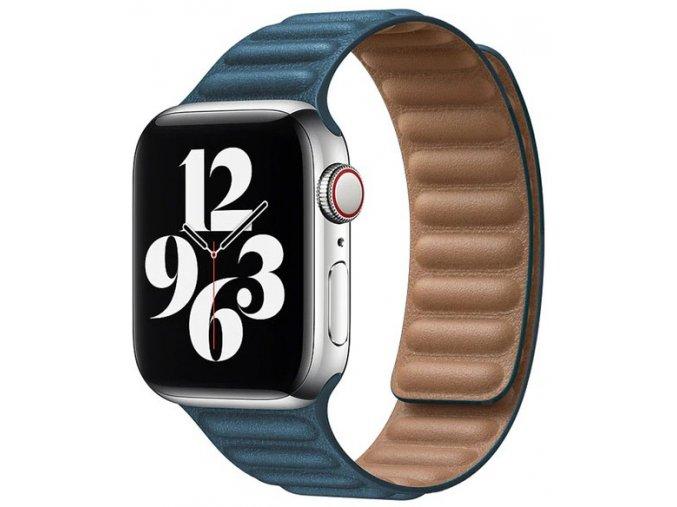 kozeny magneticky reminek pro apple watch 2 generace malachite zelena