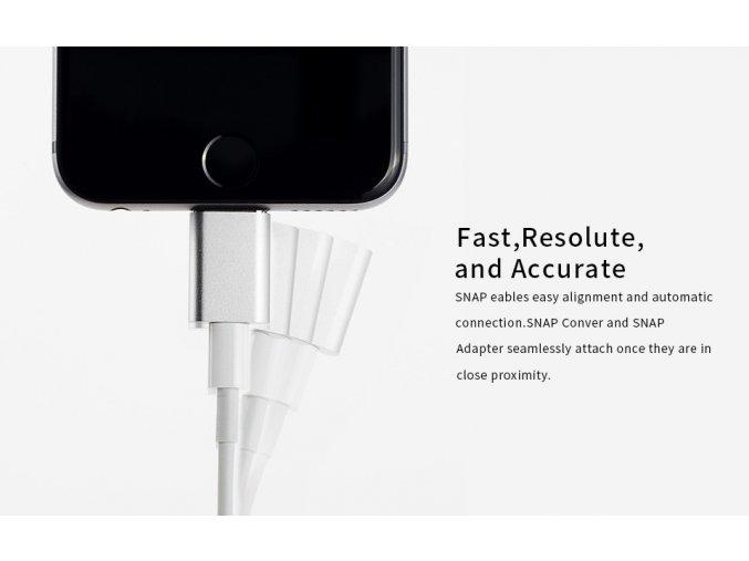 Magnetický adaptér SNAP pro iPhone a iPad