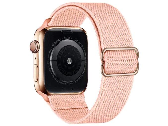 elasticky navlekaci reminek pro apple watch s prezkou vintage ruzovy