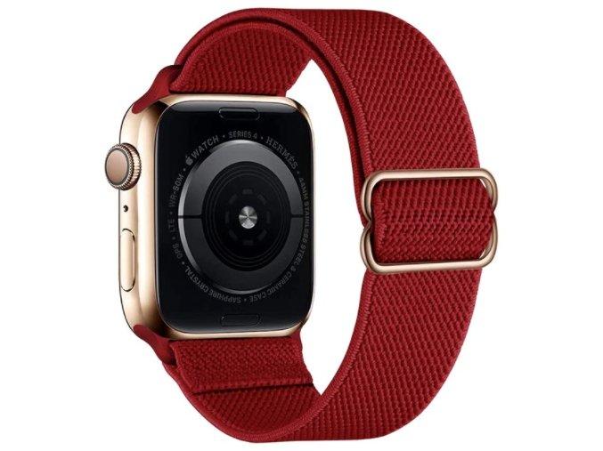 elasticky navlekaci reminek pro apple watch s prezkou cerveny
