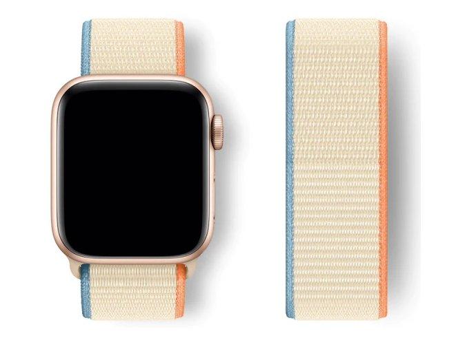 kremovy provlekaci reminek na suchy zip pro apple watch