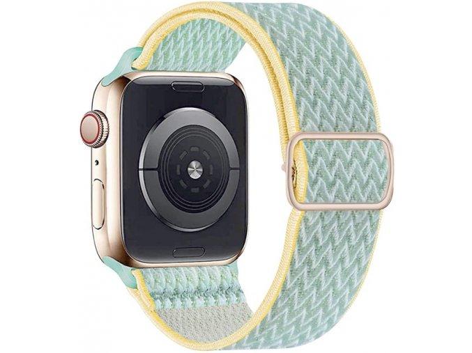 elasticky navlekaci reminek pro apple watch citronovy