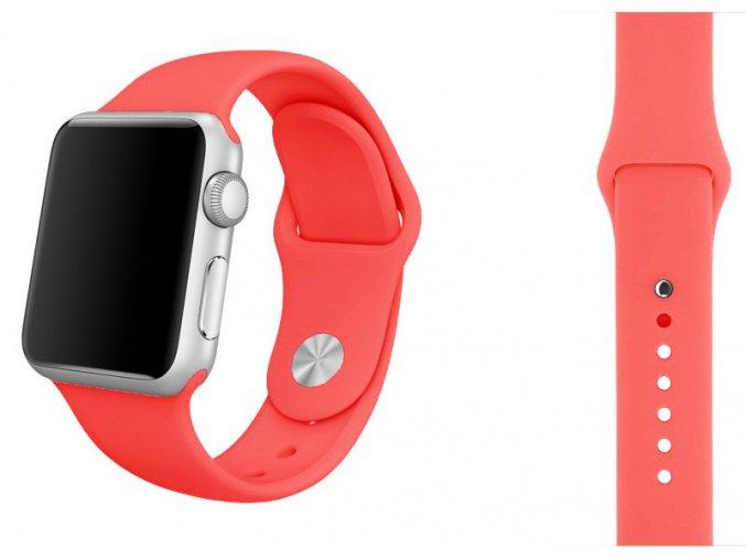 Hotpink silikonový řemínek pro Apple Watch 42 a 44 mm