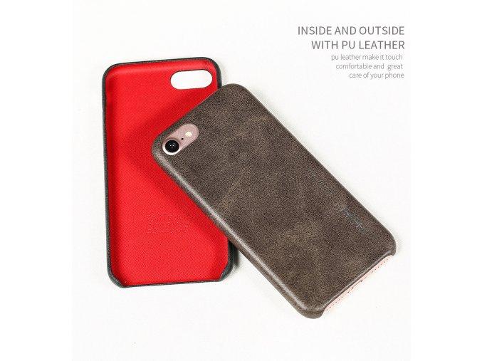 Zadní kryt X-Level pro iPhone 7 a 8 imitace kůže (3 barvy)