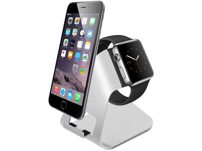 nabijeci hlinikovy stojan pro apple watch a iphone 01