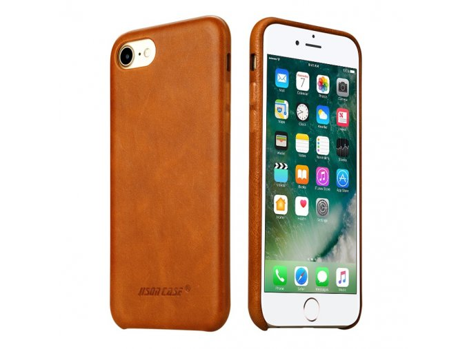 Zadní kryt Jisoncase pro iPhone 7 a 8 z pravé kůže (4 barvy)