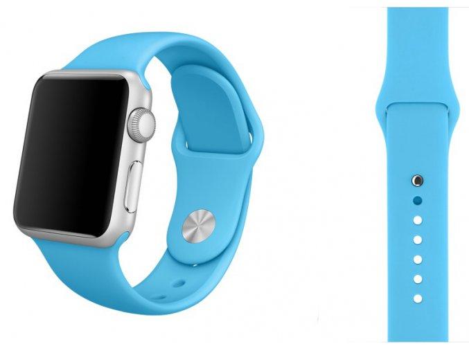 tyrkysovy silikonovy reminek pro apple watch 38 mm