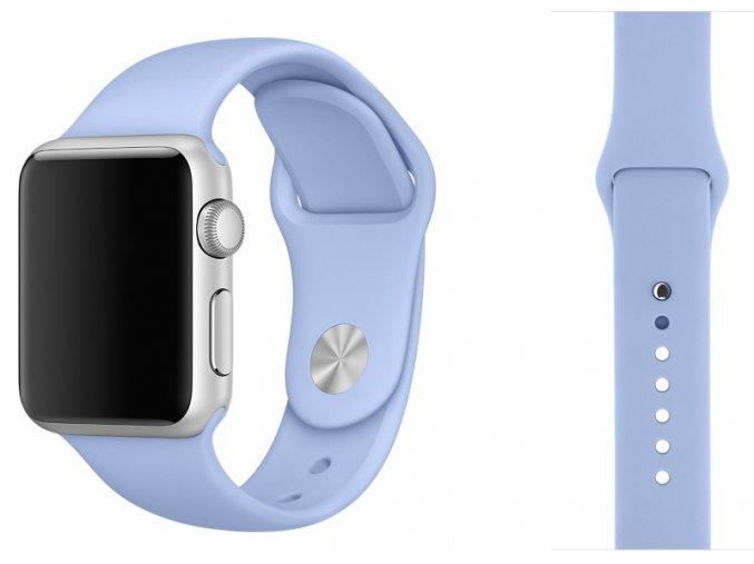 Barva světle fialová silikonový řemínek pro Apple Watch 38 a 40 mm