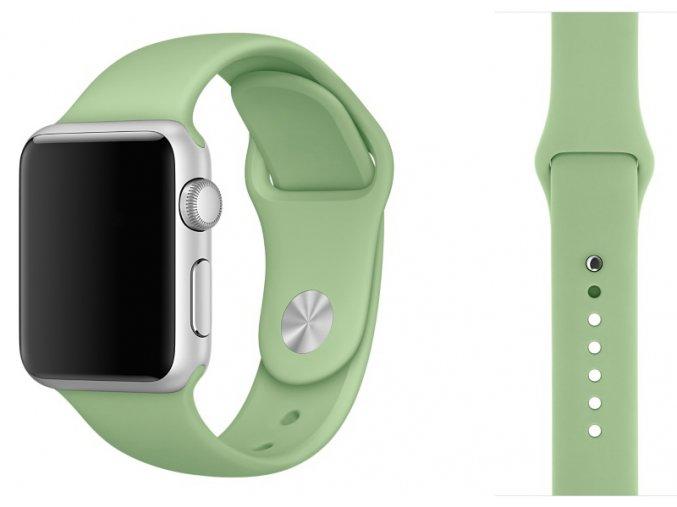 Barva mátová silikonový řemínek pro Apple Watch 38 a 40 mm