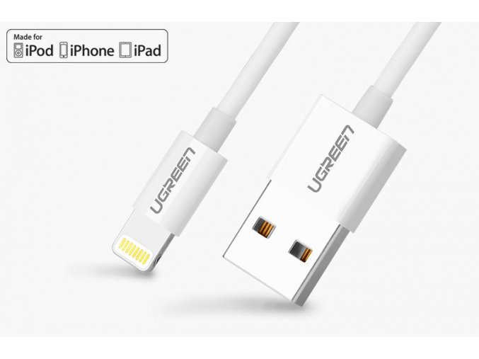 kabel lightning usb pro iphone a ipad dlouhy 1m bily 01