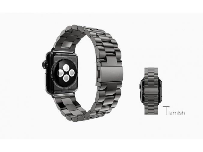 klasicky reminek z nerezove oceli pro apple watch 42 mm cerny 01