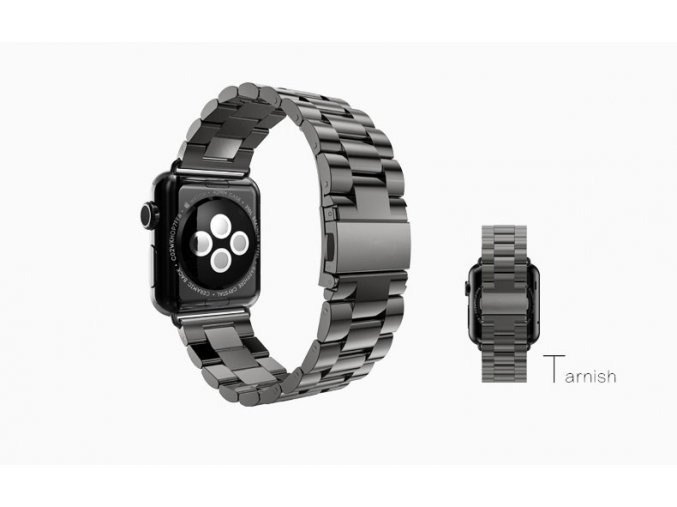 klasicky reminek z nerezove oceli pro apple watch 42 mm cerny 01