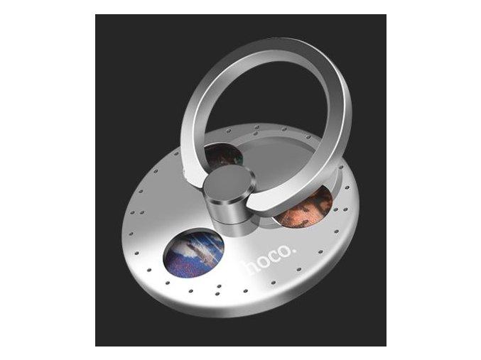 hoco gyros finger holder s otocnym prstencem stribrny 01