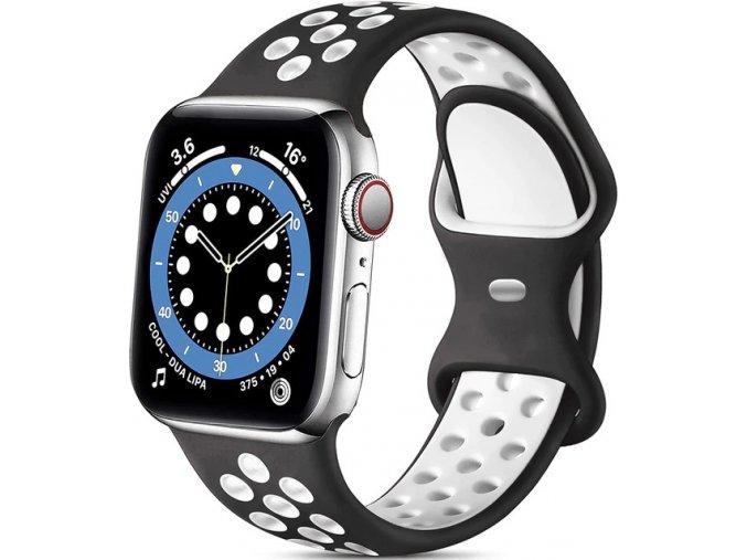 bilocerny silikonovy reminek pro apple watch 01