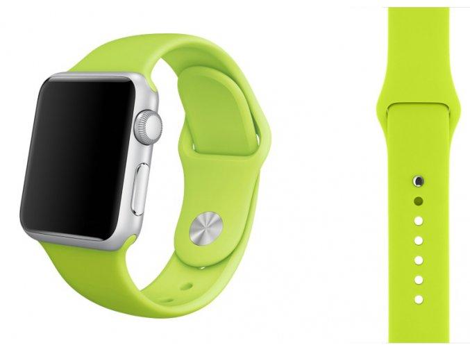 Zelený silikonový řemínek pro Apple Watch 42, 44 a 45 mm