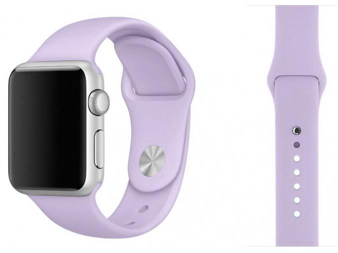 barva fialova silikonovy reminek pro apple watch 38 mm