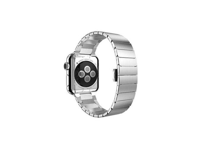 luxusni clankovy reminek z nerezove oceli pro apple watch 42 mm stribrny 00