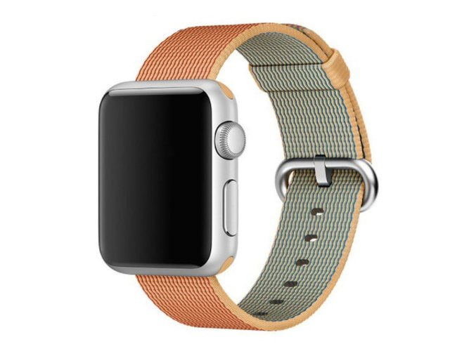 zlatocerveny tkany nylonovy reminek pro apple watch