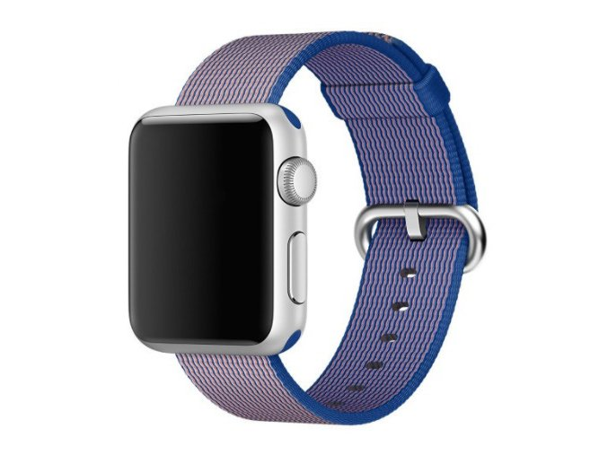 kralovsky modry tkany nylonovy reminek pro apple watch