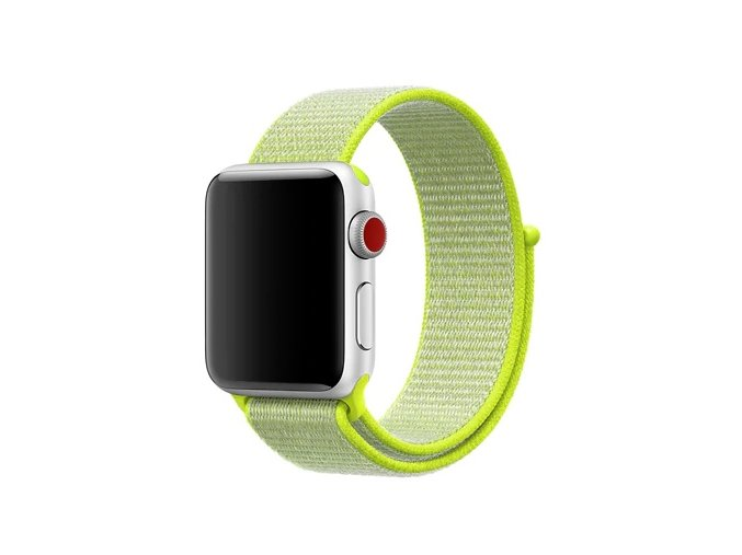 zarive zluty provlekaci reminek na suchy zip pro apple watch