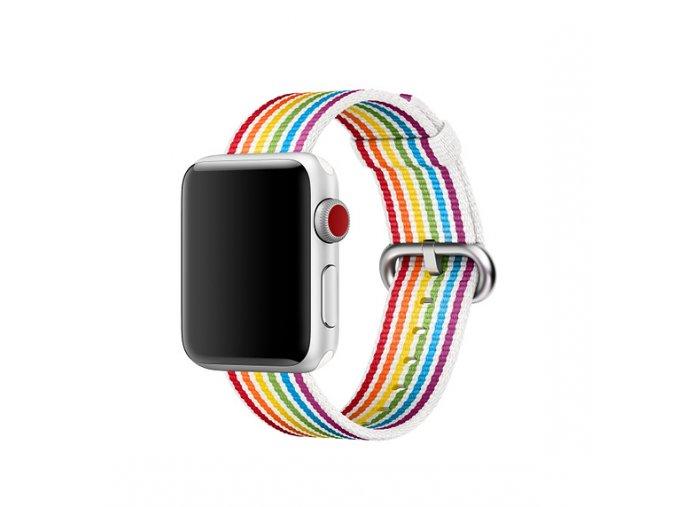 duhovy pride tkany nylonovy reminek pro apple watch 01