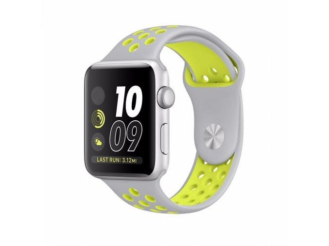 sedozluty silikonovy reminek pro apple watch