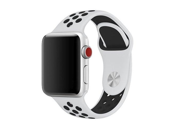 bilocerny silikonovy reminek pro apple watch