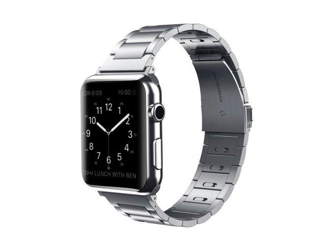 luxusni ocelovy reminek z nerezove oceli s odnimatelnymi clanky pro apple watch stribrny 03