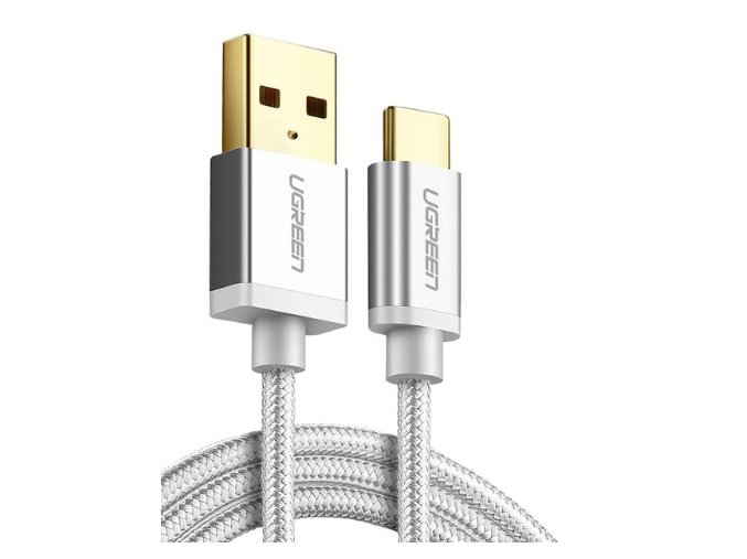 kabel usb c pro ipad dlouha 1m nylonovy bily