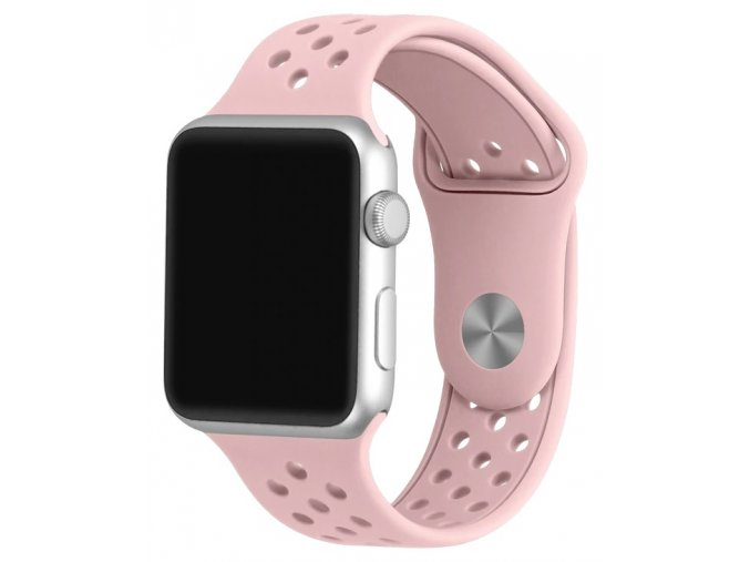 ruzovy reminek s odvetravacimi otvory pro apple watch