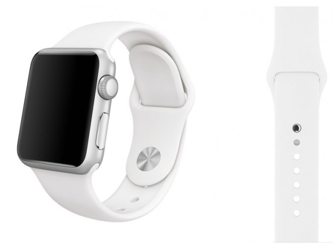 silikon apple watch reminek ryzove bily