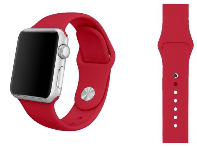 cervena ruze silikonovy reminek pro apple watch