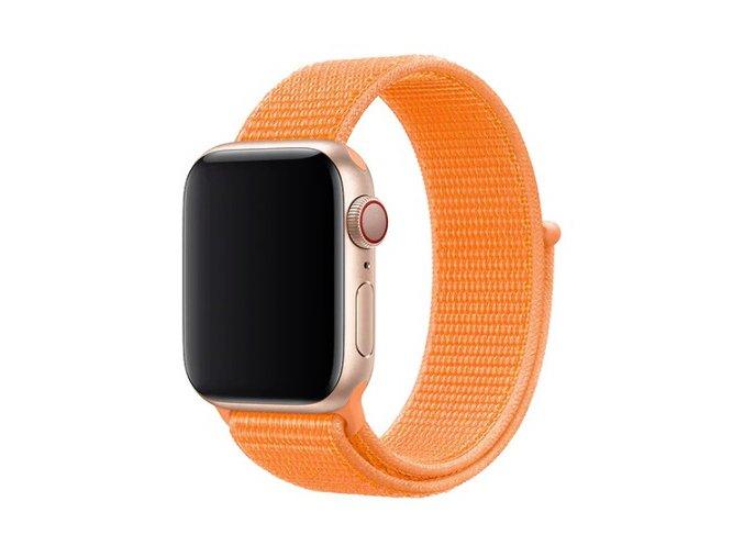 syte oranzovy provlekaci reminek na suchy zip pro apple watch