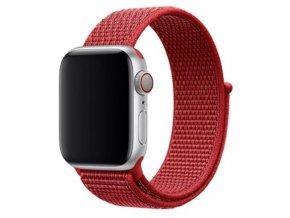 cerveny provlekaci reminek na suchy zip pro apple watch