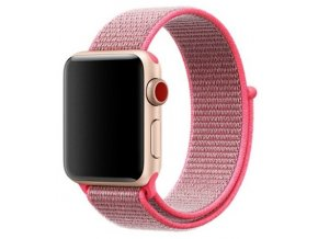 hot pink provlekaci reminek na suchy zip pro apple watch