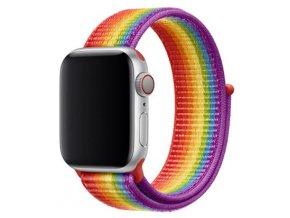duhove pruhovany provlekaci reminek na suchy zip pro apple watch