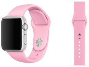 barva svetle ruzova silikonovy reminek pro apple watch 38 mm